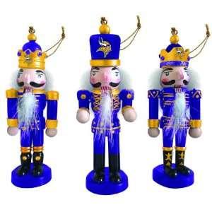 Pack of 6 NFL Minnesota Vikings Nutcracker Christmas