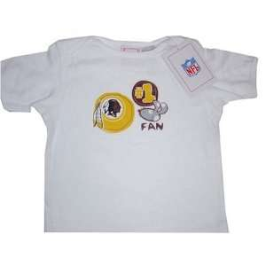 Washington Redskins NFL Reebok Baby/Infant #1 Fan White T Shirt