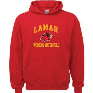 Lamar Cardinals Red Youth Womens Water Polo Arch Hooded Sweatshirt