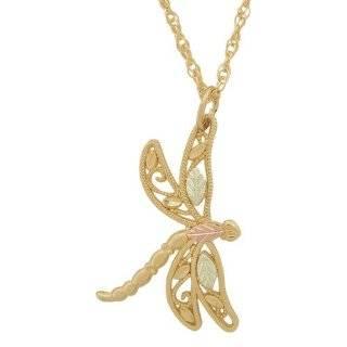 Black Hills Gold 10K Dragonfly Earrings Jewelry