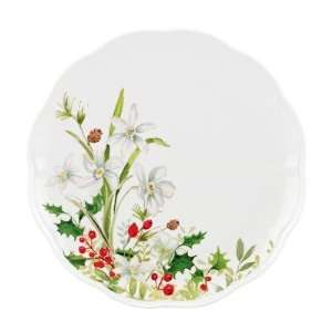 Winter Meadow Paper White Dinner Plate [Set of 4] Kitchen & Dining