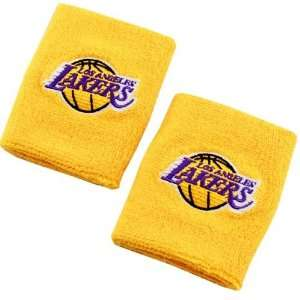 adidas Los Angeles Lakers Gold Team Logo Wristbands