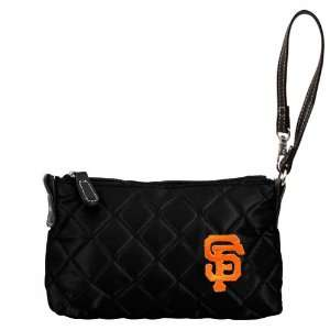San Francisco Giants Black Quilted Wristlet Purse