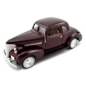 1939 Chevrolet Coupe Diecast Car Model 1/24 Burgundy