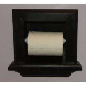 In the wall Bathroom Toilet paper holder, inset in the wall between