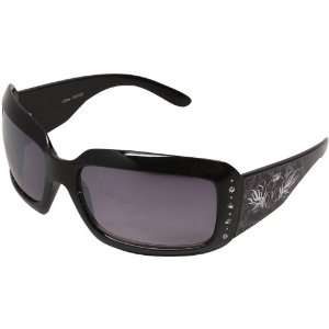 NCAA Vanderbilt Commodores Ladies Black Crown Rhinestone Sunglasses