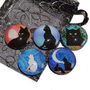 The Black Cat Jewellery Store Black Cats Glass Tile Fridge
