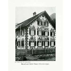 1924 Print Hansel Gretel House Oberammergau Bavaria Germany Grimm