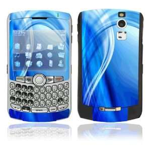 Blue Neon Lights Decorative Skin Cover Decal Sticker for BlackBerry