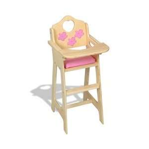Dreamtime Baby Doll Pink High Chair : Toys & Games :