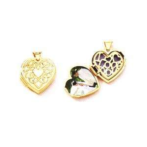 14Kt Gold Heart Locket With I Love You Written Inside Locket Gold