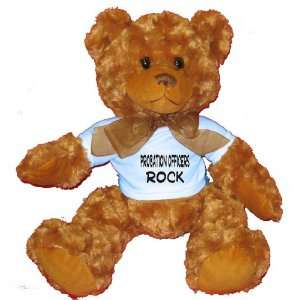 Probation Officers Rock Plush Teddy Bear with BLUE T Shirt
