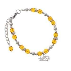 Gotta Dance Yellow Czech Glass Beaded Charm Bracelet [Jewelry]