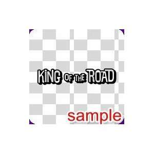 CARS KING OF THE ROAD 10 WHITE VINYL DECAL STICKER