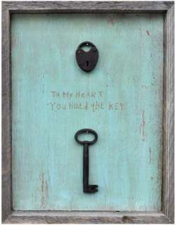 To My Heart You Hold The Key Wooden Sign   Wooden Signs   Wall Decor