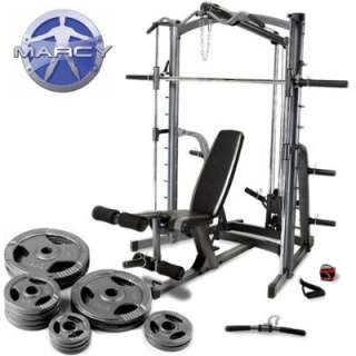 Smith Machine Home Gym & Weight Bench With 85kg Olympic Weight Set