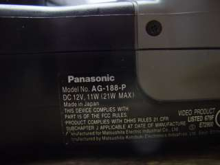 Panasonic VHS Video Recorder Camcorder 14X AG 188 P
