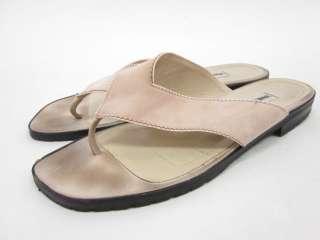 VANESSA NOEL Pink Suede Thong Sandals Shoes Sz 9.5