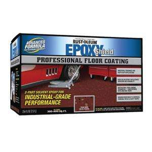 Rust Oleum Epoxy Shield Professional Semi gloss Tile Red Floor Coating