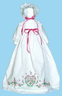 Crafts   Stamped White Pillowcase Doll Kit   Floral Heart