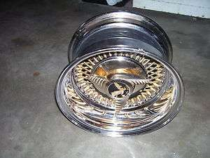 Roadster Gold Spoke Wire Wheel 13x7 Deep Dish