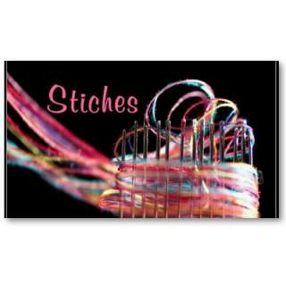 sewing alterations business card colorful fun from Zazzle