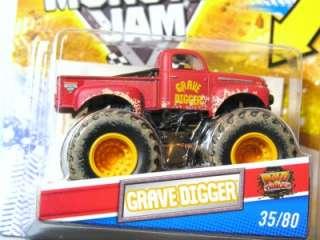Hot Wheels Monster Jam Mud Trucks Muddy Grave Digger