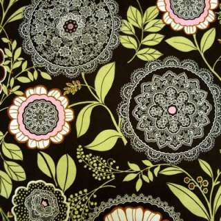 Amy Butler~LOTUS~LACEWORK~OLIVE Floral Fabric /Yd.
