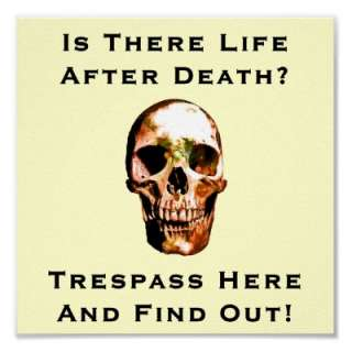 Funny No trespassing sign 2 Print from Zazzle