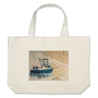 AMY LYNN West Coast Commercial Fishing Boat Tote Bags from Zazzle