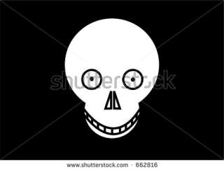 This Is An Cartoon Skull. Stock Photo 662816  Shutterstock