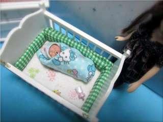 Baby Girl Polymer Clay Sculpt Art Doll House QT 2 1/4 DUCKWALKBABIES