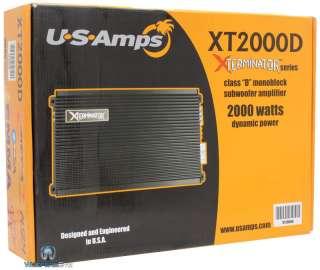 XT 2000D US AMPS 1 CHANNEL MONO 2000 W RE POWER BASS SUB SUBWOOFER