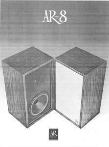 ACOUSTIC RESEARCH AR 8 SPEAKER LITERATURE