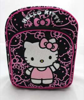 Hello Kitty BLACK GLITTER FACE School 10 Mini Backpack Bag