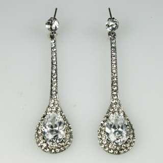 75 White Swarovski Crystal Bridal Chandelier Earring