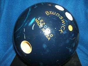 BRUNSWICK RHINO PRO DARK BLUE SWIRL MARBLED 16 POUND BOWLING BALL W@W