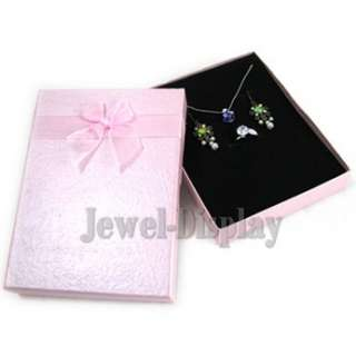 Bow Jewellery Gift Box Necklace Earring Ring Set PK