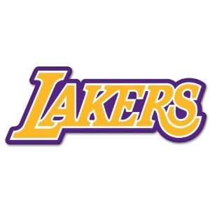 Los Angeles Lakers NBA Basketball car sticker 7 x 3