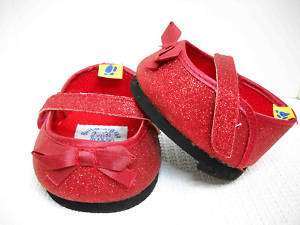 Build a Bear Ruby Slippers Red Shoes Authentic