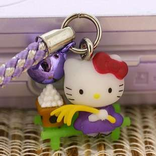 Brand New Lovely Cell Phone Strap Charm   Hello Kitty HK218