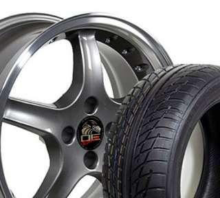 17x8 Cobra R 4 Lug Rivet Wheels Rims Tires Fit Mustang®