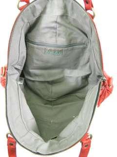 DESIGNER Red Leather Fashion Hobo Handbag