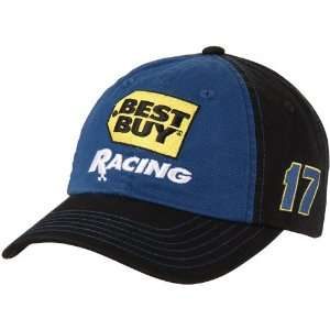 Checkered Flag Matt Kenseth Best Buy Fan Adjustable Hat   Royal