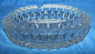Vtg Crystal Glassware Diamond Point ? Ashtray