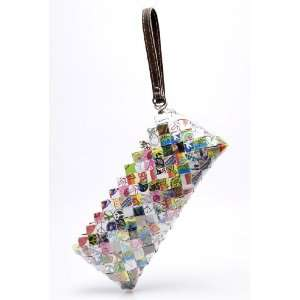 Peace & Love Candy Wrapper Wristlet Clutch Bag Purse: Everything Else