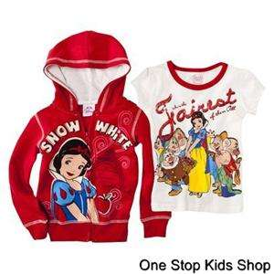 SNOW WHITE Disney Princess 3T 4T 5T Short Sleeve SHIRT & HOODIE Top