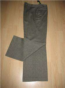 RALPH LAUREN WOMENS BLACK WOOL DRESS PANTS 14 W $189.00