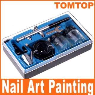 Dual action Air Brush Set Paint Spray Gun Tool Craft Nail Art Cake