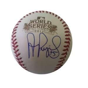 Signed Albert Pujols 2011 World Series Baseball JSA COA